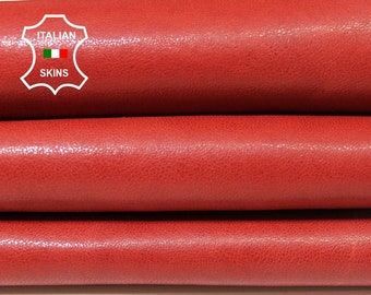 RED vegetable tan tanned Italian Lambskin Lamb Sheep leather skin hide skins hides 6sqf 1.1mm #A5477