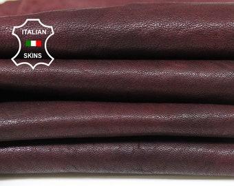 WINE ANTIQUED RUSTIC vegetable tan tanned Italian Lambskin Lamb sheep leather skin hide skins hides 7sqf 0.7mm #A5602