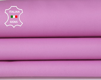 CANDY PINK smooth Italian genuine Lambskin Lamb Sheep leather skins hides 0.5mm to 1.2mm