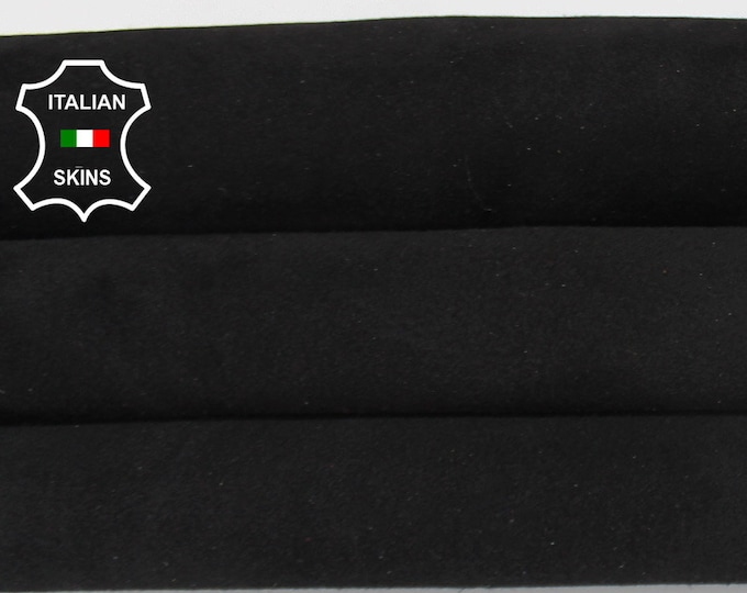 BLACK SUEDE Italian Goatskin Goat leather material for sewing crafts skin hide skins hides 3sqf 1.0mm #A6708
