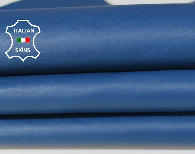 BLUE Italian Lambskin Lamb Sheep leather for crafts bookbinding earrings skin hide skins hides 7sqf 1.0mm #A6692