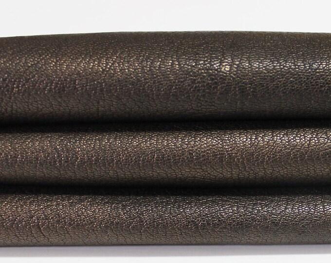BRONZE ANTIQUED ROUGH genuine Italian Goatskin Goat leather skin hide skins hides 4sqf 1.2mm #A3566