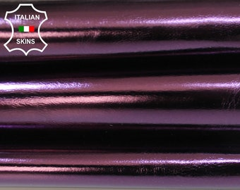 METALLIC EGGPLANT PURPLE grape Italian Goatskin Goat leather skin hide skins hides 5sqf 1.0mm #A5958