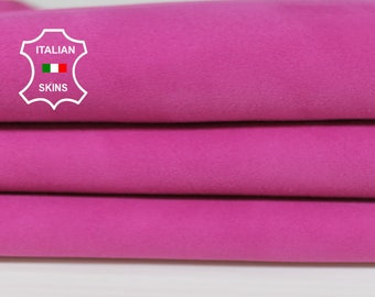 PINK SUEDE Italian Genuine Goatskin Goat leather sewing material crafts skin hide skins hides 3sqf 1.0mm #A7052