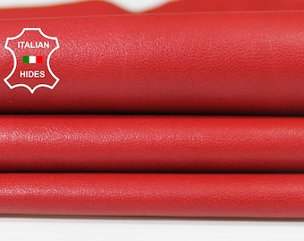 NATURAL RED smooth Italian genuine Lambskin Lamb Sheep leather skins hides 0.5mm to 1.2mm