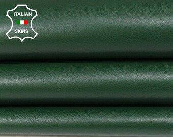 DARK GREEN Italian Goatskin Goat leather skin hide skins hides fabric for sewing crafts 5-8sqf 0.7mm #A6035
