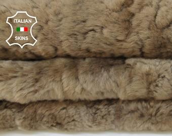 KHAKI BEIGE  sheepskin merino shearling fur short hair sheep Italian leather skin skins 7sqf #A6989