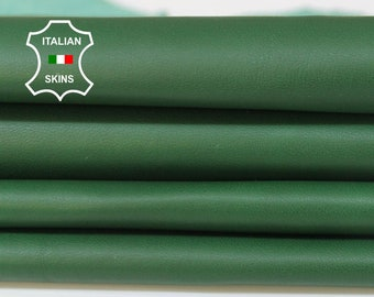 GREEN soft Italian Lambskin Lamb Sheep leather material for sewing fabric skin hide skins hides 6sqf 0.6mm #A5970