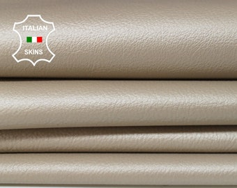 BEIGE PEARLIZED rough Italian Goatskin goat leather material for sewing craft crafts 4 skins hides total 13sqf 0.8mm #A6077