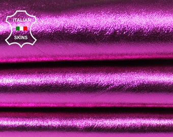 METALLIC FUCHSIA fuschia hot pink soft Italian Lambskin Lamb sheep leather skin hide skins hides 5sqf 0.6mm #A5908