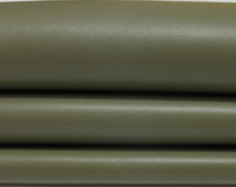 ARMY OLIVE GREEN Italian genuine Lambskin Lamb Sheep leather skins hides 0.5mm to 1.2mm