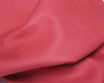 Italian Lambskin Lamb leather skin hide skins hides UNFINISHED LIGHT RED 27sqf #A2588