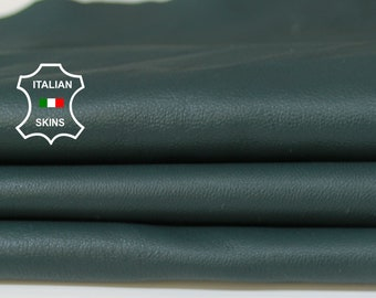 TEAL GREEN PETROL soft Italian Lambskin Lamb Sheep leather material for sewing fabric skin hide skins hides 6sqf 1.1mm #A5976