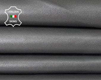 DARK TAUPE GREY soft Italian lambskin lamb sheep leather skin skins hide hides 6sqf 0.9mm #A8317