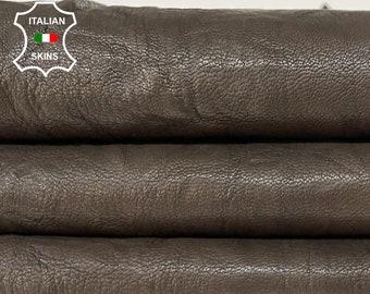 BROWN RUSTIC CRINKLE antiqued vegetable tan soft Italian goatskin goat leather skin skins hide hides 5+sqf 1.0mm #A8474