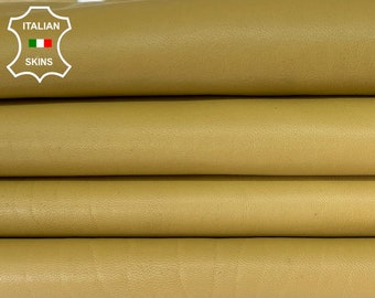 MUSTARD Italian lambskin lamb sheep leather skin hide hides skins 8sqf 1.0mm #A8331