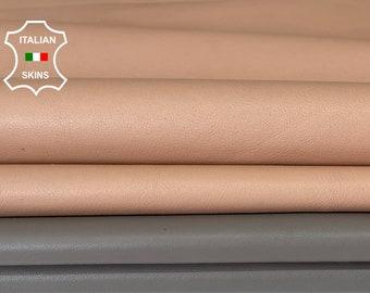 PACK OF 2 SKINS nude& grey Italian lambskin sheep leather skin skins hide hides 15sqf 0.8mm #A8000