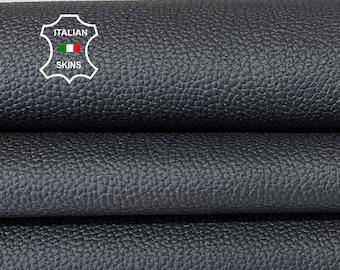 BLACK PEBBLE GRAINY Italian goatskin goat leather hide hides skin skins 7-9sqf 0.7mm #A8174