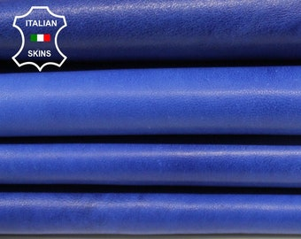 INK BLUE DISTRESSED vintage thick Italian Lambskin Lamb sheep Leather bookbinding crafts sewing skin hide skins hides 10sqf 1.4mm #A6835