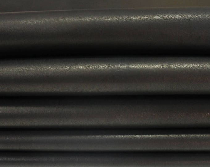 UNFINISHED NAKED BLACK nude Italian genuine Lambskin Lamb Sheep leather 5 skins hides 35sqf #A3387