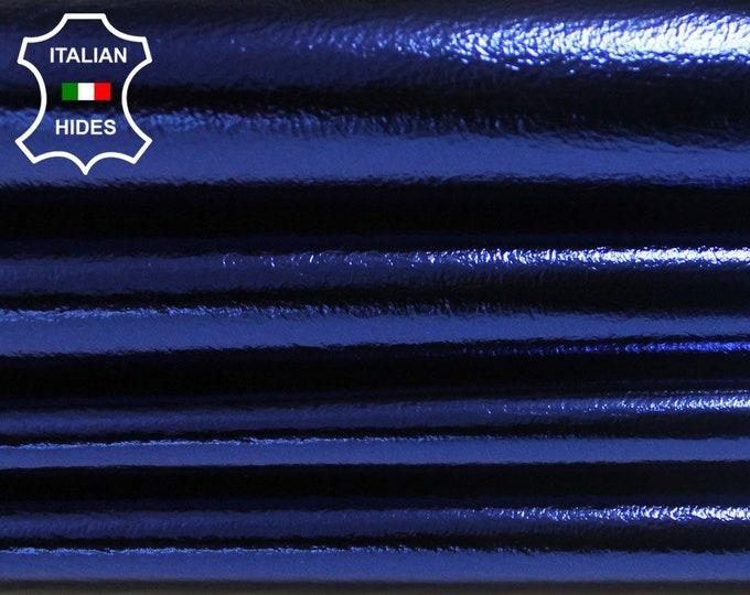 Italian lambskin lamb sheep leather 12 skins hides METALLIC BLUE 80-90sqf