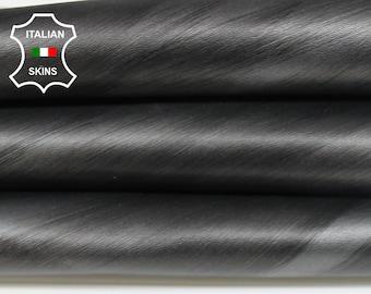 PEARLIZED STEEL GUNMETAL brushed distressed Italian Goatskin Goat leather skin skins hides 6sqf 1.2mm #A6970