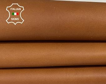NATURAL SADDLE TAN vegetable tan Italian goatskin goat leather skin skins hide hides 7sqf 1.0mm #A8434