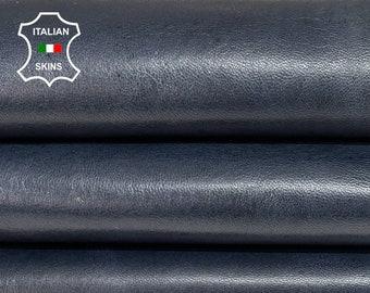 BLUE ANTIQUED RUSTIC look vegetable tan soft Italian lambskin lamb sheep leather hides hide skin skins 7sqf 0.9mm #A8303