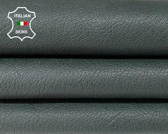 DARK BOTTLE GREEN rough vegetable tan thick Italian goatskin goat leather skin skins hide hides 5sqf 1.4mm #A8452