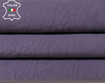 COATED PURPLE natural grainy vegetable tan thick Italian lambskin lamb sheep leather skin skins hide hides 5sqf 1.2mm #A8311