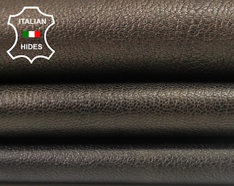 3 SHADES BRONZE grainy rough Italian genuine Goatskin Goat leather 3 skins hides total 20sqf 1.3mm #A3885