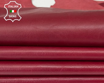 WINE RED ANTIQUED Italian goatskin goat leather hide hides pack 6 skins total of  28sqf 0.7mm #A8141