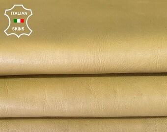 MUSTARD LIGHT TAN Italian lambskin sheep leather skin skins hide hides 8sqf 1.0mm #A7991
