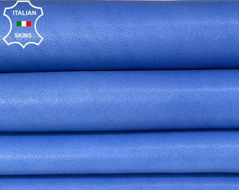 NATURAL BLUE soft Italian lambskin lamb sheep leather skin skins hide hides 5sqf 0.7mm #A8320