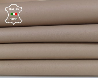 NUDE beige Italian Lambskin Lamb Sheep Genuine leather fabric material sewing crafts 3 skins hides total 14sqf 1.0mm #A6103