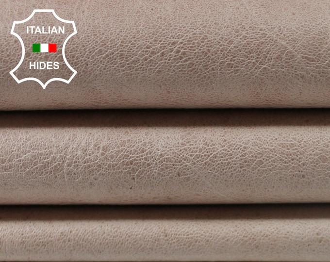 CRINKLE NUDE VINTAGE look Lambskin Lamb Sheep leather 3 skins hides total 17sqf 0.7mm #A3806
