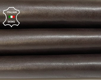 ESPRESSO DARK BROWN antiqued vegetable tan Italian goatskin goat leather skin skins hide hides 8sqf 1.0mm #A8431