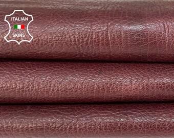 WINE BORDEAUX ROUGH antiqued vegetable tan thick Italian goatskin goat leather skin skins hide hides 6sqf 1.2mm #A8460