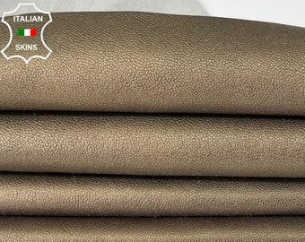 METALLIC BRONZE ANTIQUED Italian soft lambskin sheep leather skin skins hide hides  6sqf 1.0mm #A8033