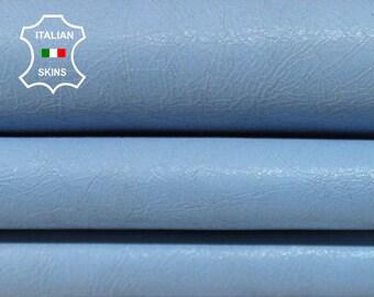 SKY BLUE PEARLIZED Crackle crackled vintage Italian Goatskin Goat Leather bookbinding crafts sewing 3 skins hides total 11sqf 1.0mm #A6836