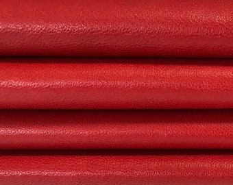 TRUE RED Italian soft  lambskin lamb sheep leather skins hides material for sewing jackets crafts