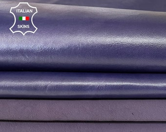 PURPLE MAUVE PACK of 2 shades skin semi-soft Italian Lambskin Lamb Sheep leather skin hide skins hides 12sqf 0.9mm #A7965