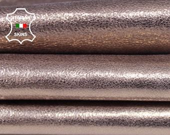 METALLIC ROSE GOLD rosegold Crispy rough Italian Goatskin Goat Leather skin hide skins hides 4sqf 1.1mm #A6827