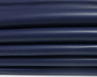 NAVY BLUE Italian soft lambskin Lamb Sheep leather 12 skins hides total 80-90sqf
