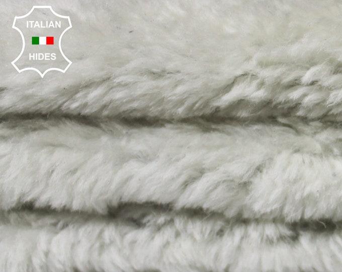 OFF WHITE OFFWHITE sheepskin hair on shearling fur sheep Italian leather skin skins hide hides 4sqf #A5080