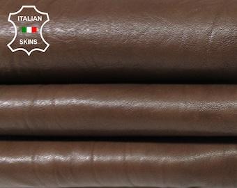 BROWN washed antiqued wrinkled rustic vegetable tan Italian Lambskin Lamb sheep leather skin hide skins hides 6sqf 1.0mm #A5576