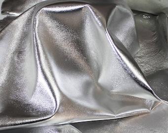 Italian lambskin leather 12 skins hides METALLIC SILVER 80-90sqf