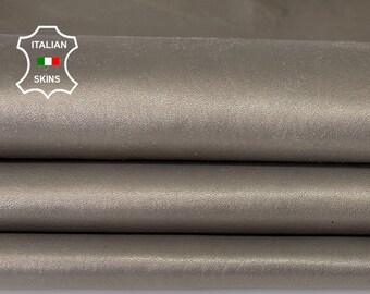 TAUPE PEARLIZED Italian lambskin lamb sheep leather hide hides skin skins  8sqf 1.0mm #A8143