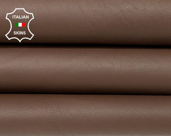 NATURAL BROWN vegetable tan thick Italian goatskin goat leather skin skins hide hides 8sqf 1.3mm #A8418