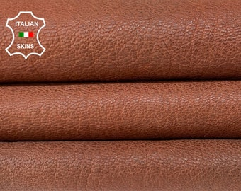 BROWN RUSTIC ANTIQUED look rough vegetable tan thick Italian goatskin goat leather pack 2 skins total 16sqf 1.2mm #A8396
